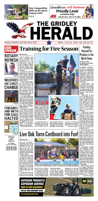 Gridley Herald Front Page